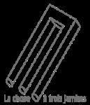 L'association La chose à trois jambes logo